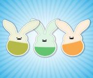 Three Easter rabbit. Royalty Free Stock Photos