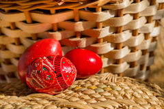 Three easter red Royalty Free Stock Photography