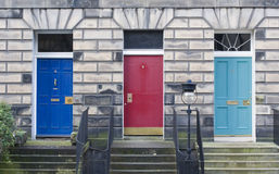Three Edinburgh Doors Stock Photos