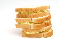 Three egg salad sandwiches Stock Photography