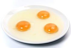 Three egg yolk Royalty Free Stock Photo