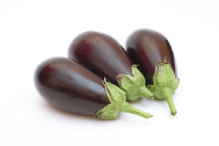Three eggplant Stock Images