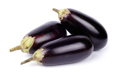 Three eggplant isolated on white Royalty Free Stock Images