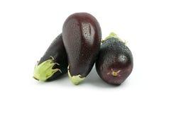 Three Eggplants Stock Photos