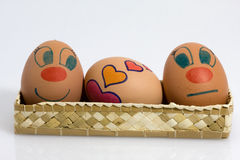 Three eggs Stock Images