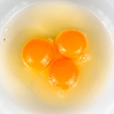 Three Eggs in Bowl Royalty Free Stock Photo