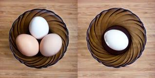 Three eggs Stock Images