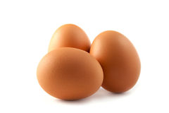 Three Eggs Isolated Stock Photo