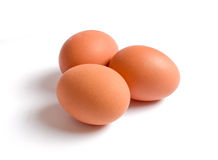Three Eggs Isolated Royalty Free Stock Photography