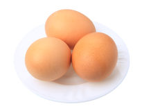 Three eggs, isolated Royalty Free Stock Image