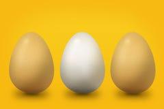 Three eggs Stock Photos