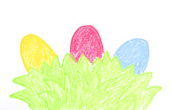 Three eggs painted Stock Image