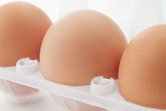 Three eggs with selective focus Royalty Free Stock Image