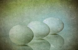 Three eggs with texture Royalty Free Stock Photos