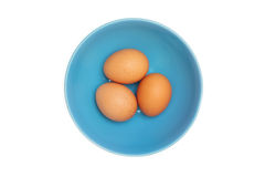 Three eggs on white Stock Images