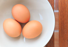 Three eggs royalty free stock image
