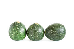 Three Eight Ball Squashes. Isolated on white Royalty Free Stock Image