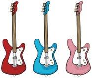 Three electric guitars Stock Image