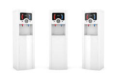 Three Electric water coolers Stock Photography