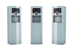 Three Electric water coolers Royalty Free Stock Photo