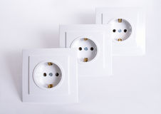 Three Electrical connector on light background.  Stock Image