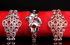 Three elegant bracelets Royalty Free Stock Image