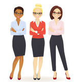 Three elegant business women Royalty Free Stock Photography