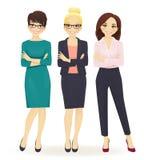 Three elegant business women Stock Image