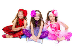 Three elegant girls Royalty Free Stock Images
