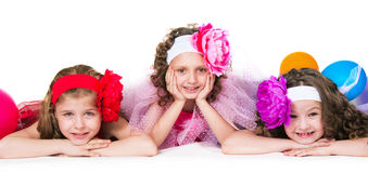 Three elegant girls Royalty Free Stock Photos