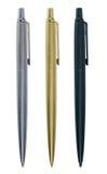 Three elegant pens Stock Photos