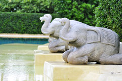 Three elephents sculpture Royalty Free Stock Image