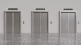 Three elevator Stock Photo