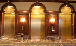 Three Elevators Royalty Free Stock Images