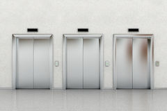 Three elevators Stock Photos