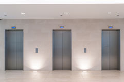 Three elevators Stock Photography