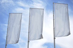 Three empty banners Stock Images