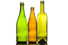 Three empty bottle Stock Photography