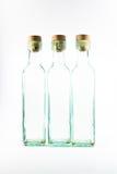 Three empty bottles isoladed royalty free stock photo