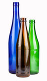 Three empty bottles Stock Photo