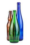 Three empty bottles Royalty Free Stock Photos