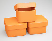 Empty boxes Royalty Free Stock Photos