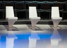 Three empty chairs Royalty Free Stock Photography