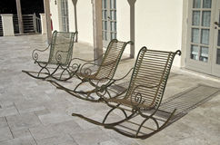Three empty chairs. Royalty Free Stock Images