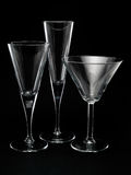 Three Empty Cocktail Glasses Royalty Free Stock Photo