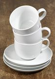 Three Empty Coffee Cups Royalty Free Stock Photo
