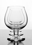 Three empty cognac glasses Royalty Free Stock Photos