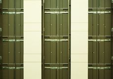 Three Empty Elevator Shafts Stock Photography