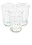 Three empty faceted glasses Royalty Free Stock Photos