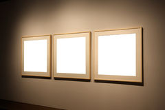 Three empty frames Royalty Free Stock Photography